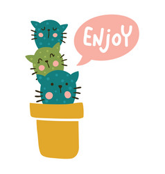 enjoy cats vector image