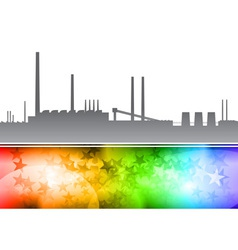 factory rainbow vector image