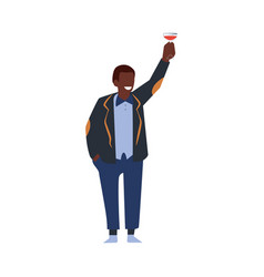 flat manager man corporate party drinks vector image