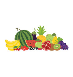 fruits vegetables berries still life vector image