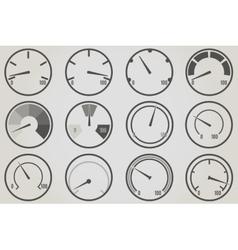 Gauge meter icons sets vector