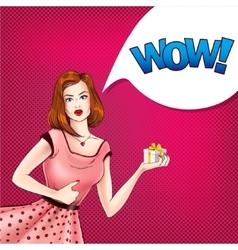 girl in pop-art style vector image