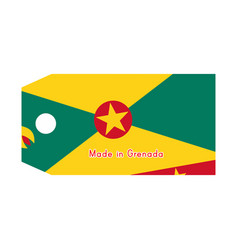 Grenada flag on price tag with word made in vector
