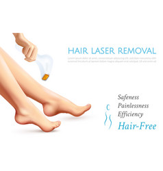 Hair laser removal realistic poster vector