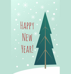 happy new year vintage greeting card design vector image
