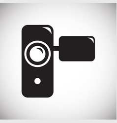 Hnad held vide recorder icon on white background vector