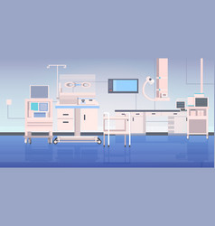 Hospital operating table and medical devices vector