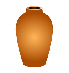 isolated empty flower pot vector image