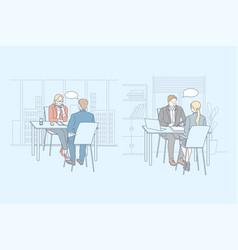 job interview service business hr set concept vector image