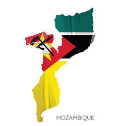 map mozambique with flag vector image