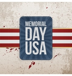 Memorial Day Usa festive Sign with Ribbon vector