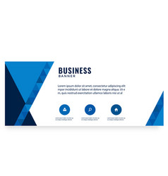modern blue design business banner image vector image