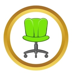Office chair icon cartoon style vector