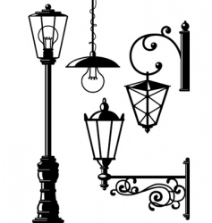 Oldfasioned lanterns vector