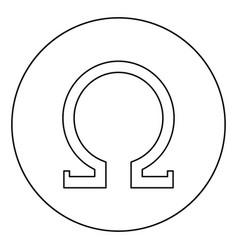 Omega greek symbol capital letter uppercase font vector