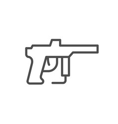 Paintball gun line outline icon vector
