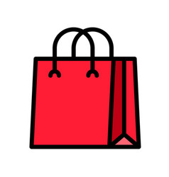 Paper bag filled style editable outline icon vector