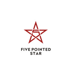 pentagram 5 five pointed star logo vector image