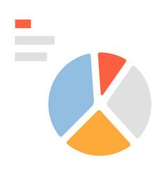 Pie chart flat vector