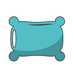 Pillow rest cartoo isolated vector