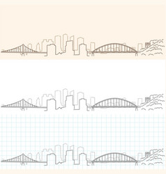 Pittsburgh hand drawn skyline vector