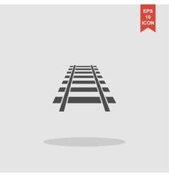 Railroad icon Modern design flat style vector image