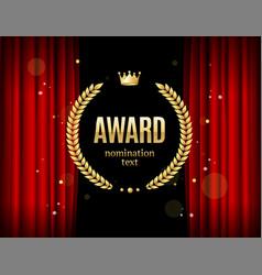 realistic detailed 3d laurel wreath award emblem vector image