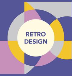 retro geometric banner mid century template vector image