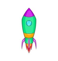 Rocket icon in cartoon style vector image