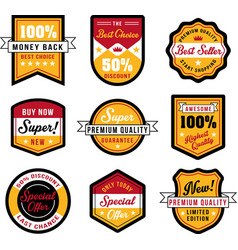 set vintage badges and labels vector image