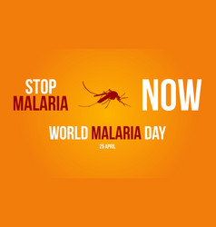 Sign for malaria day collection vector