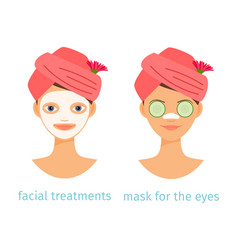 spa treatments concept of vector image
