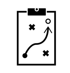 Strategic planning icon on white background flat vector
