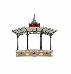 Structure of a charming gazebo vector