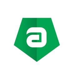 symbol of alphabet letter a vector image