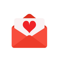 valentine day envelopes vector image
