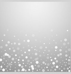 White dots christmas background subtle flying sno vector