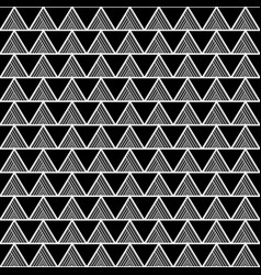 white triangle aztec seamless on black background vector image