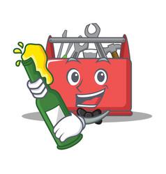 With beer tool box character cartoon vector