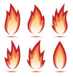 abstract red flame icon vector image vector image