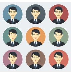 Emotions of Businessman vector image vector image