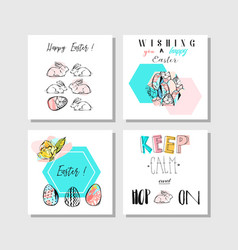hand made collage abstract easter greetings vector image vector image