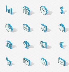 Light isometric flat design icon set vector image