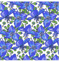 stylised floral colorful vibrant seamless vector image