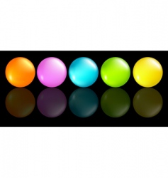 buttons coloured vector image