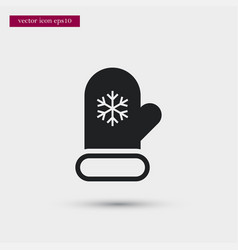 Mitten icon simple winter sign vector