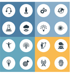 Set of simple creative icons vector