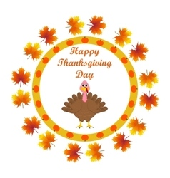 Turkey in the autumn leaves wishes everyone vector image vector image