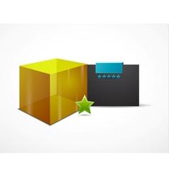 web box design template vector image
