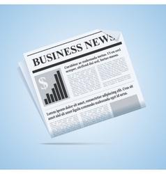 Business news newspaper vector image